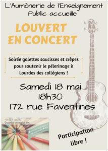 affiche concert galettes saucisses